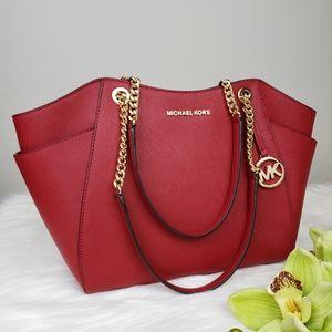 🌺NWT Michael Kors LG Chain shoulder bag scarlet